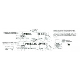 BLACK CAT DECAL - BC062-O - IMPERIAL OIL TANK CAR