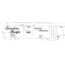 BLACK CAT DECAL - BC064 - CANADIAN PACIFIC 50' MECHANICAL REEFER