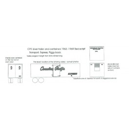 BLACK CAT DECAL - BC065 - CANADIAN PACIFIC PIGGYBACK TRAILER - HO SCALE