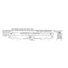 BLACK CAT DECAL - BC085-N - CANADIAN PACIFIC RDC DAYLINER - N SCALE