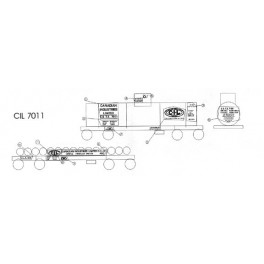 BLACK CAT DECAL - BC097-O - CANADIAN INDUSTRIES LIMITED TANK CAR - O SCALE