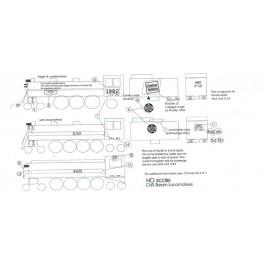 BLACK CAT DECAL - BC145-N - CANADIAN NATIONAL STEAM LOCOMOTIVE - N SCALE
