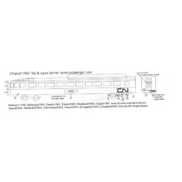 BLACK CAT DECAL - BC148-O - CANADIAN NATIONAL RIVER CLASS SLEEPER - O SCALE