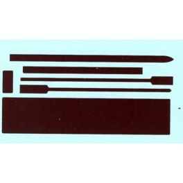 BLACK CAT DECAL - BC149-N - CANADIAN PACIFIC STEAM LOCOMOTIVE TUSCAN PANELS - N SCALE