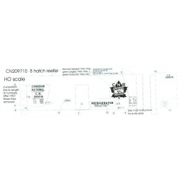 BLACK CAT DECAL - BC163 - CANADIAN NATIONAL 40' REEFER