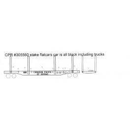 BLACK CAT DECAL - BC174 - CANADIAN PACIFIC SKELETON FLAT CAR