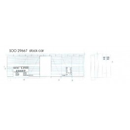 BLACK CAT DECAL - BC186 - SOO LINE 40' STOCKCAR