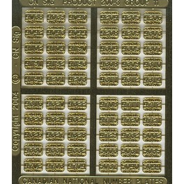 CNRHA - 200-3-11 - CANADIAN NATIONAL STEAM LOCOMOTIVE NUMBER PLATES 4038-5044
