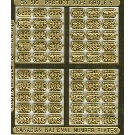 CNRHA - 200-4-5 - CANADIAN NATIONAL STEAM LOCOMOTIVE NUMBER PLATES 6300-7062