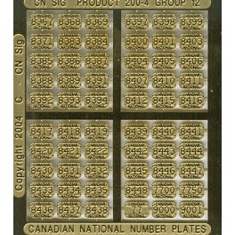 CNRHA - 200-4-12 - CANADIAN NATIONAL STEAM LOCOMOTIVE NUMBER PLATES 8367-9001