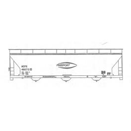 ISP 230-062 - FREEPORT KAOLIN 3 BAY COVERED HOPPER