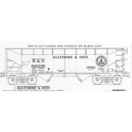 KOMAR HO-276 - BALTIMORE & OHIO 2 BAY HOPPER