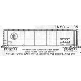 KOMAR HO-185 - NEW YORK CENTRAL 50' BOXCAR
