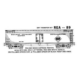 KOMAR HO-89 - RAILWAY EXPRESS AGENCY 50'  REEFER