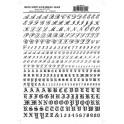 WOODLAND MG755 - ALPHABET - SCRIPT & OLD ENGLISH
