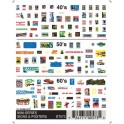 WOODLAND DT573 - SIGNS & POSTERS - N SCALE
