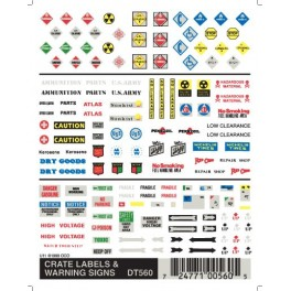 WOODLAND DT560 - CRATE LABELS & WARNING SIGNS