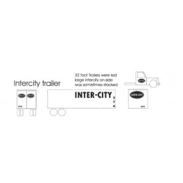 BLACK CAT DECAL - BC225 - INTER-CITY TRUCK