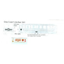 BLACK CAT DECAL - BC227 - GRAY COACH BUS