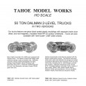 TMW202 - 50 TON DALMAN 2 LEVEL TRUCKS - WITH LATERAL MOTION DETAIL - SEMI-SCALE WHEELSETS