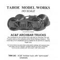 TMW203 - AC&F ARCH BAR TRUCKS - SEMI-SCALE WHEELSETS