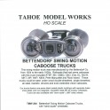 TMW204 - BETTENDORF SWING MOTION CABOOSE TRUCKS - SEMI-SCALE WHEELSETS
