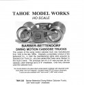 TMW205 - BARBER-BETTENDORF SWING MOTION CABOOSE TRUCKS - SEMI-SCALE WHEELSETS