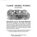 TMW206 - BUCKEYE A.R.A. 50-TON TRUCKS - SEMI-SCALE WHEELSETS