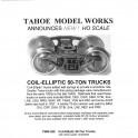 TMW208 - COIL ELLIPTIC 50-TON TRUCKS - SEMI-SCALE WHEELSETS