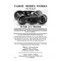 "TMW210 - ASF A-3 ""RIDE CONTROL"" 70-TON PLAIN BEARING TRUCKS - SEMI-SCALE WHEELSETS"