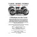 TMW211 - 20 TON 5' WHEELBASE ARCH BAR TRUCKS - SEMI-SCALE WHEELSETS
