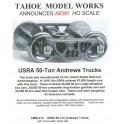 TMW212 - USRA 50 TON ANDREWS TRUCKS - SEMI-SCALE WHEELSETS