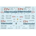 MICROSCALE DECAL 48-159 - CANADIAN NATIONAL INTERMODAL CONTAINER - O SCALE