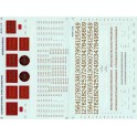 MICROSCALE DECAL 48-616 - CANADIAN NATIONAL STEAM LOCOMOTIVE - O SCALE