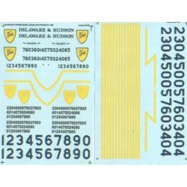 MICROSCALE DECAL 48-84 - DELAWARE & HUDSON DIESEL LOCOMOTIVE - O SCALE