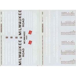 MICROSCALE DECAL 48-321 - MILWAUKEE ROAD DIESEL LOCOMOTIVE - O SCALE