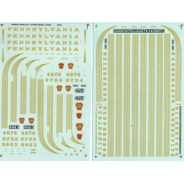 MICROSCALE DECAL 48-42 - PENNSYLVANIA DIESEL LOCOMOTIVE - O SCALE