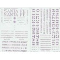 MICROSCALE DECAL 48-27 - SANTA FE STEAM LOCOMOTIVE - O SCALE