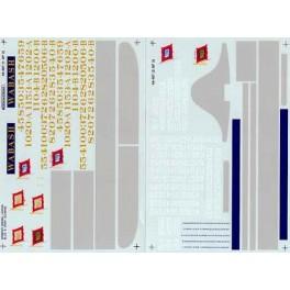 MICROSCALE DECAL 48-487 - WABASH DIESEL LOCOMOTIVE - O SCALE