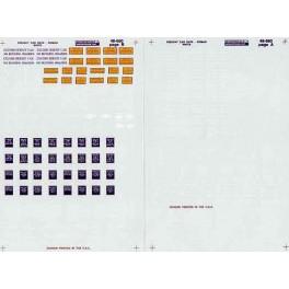 MICROSCALE DECAL 48-660 - FREIGHT CAR DATA - RAILROAD ROMAN - O SCALE