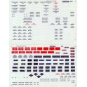 MICROSCALE DECAL 29-1 - DIESEL LOCOMOTIVE DATA