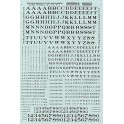 MICROSCALE DECAL 90002 - ALPHABET RAILROAD ROMAN BLACK