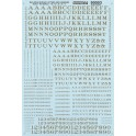 MICROSCALE DECAL 90003 - ALPHABET RAILROAD ROMAN GOLD