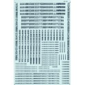 MICROSCALE DECAL 90027 - ALPHABET CONDENSED GOTHIC BLUE