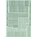 MICROSCALE DECAL 90029 - ALPHABET CONDENSED GOTHIC GREEN