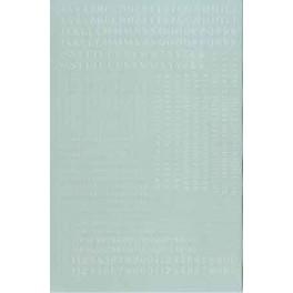 MICROSCALE DECAL 90031 - ALPHABET CONDENSED ROMAN WHITE