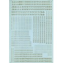 MICROSCALE DECAL 90032 - ALPHABET CONDENSED ROMAN BLACK
