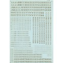 MICROSCALE DECAL 90033 - ALPHABET CONDENSED ROMAN GOLD
