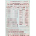 MICROSCALE DECAL 90035 - ALPHABET CONDENSED ROMAN RED