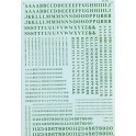 MICROSCALE DECAL 90039 - ALPHABET CONDENSED ROMAN GREEN